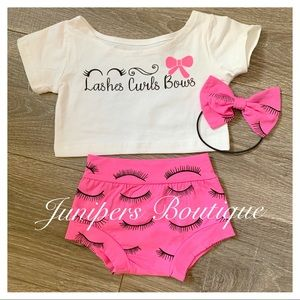 Boutique Girls 3pc Lashes Outfit